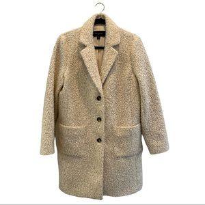 Ann Taylor Factory Woman's Cream Teddy Coat
